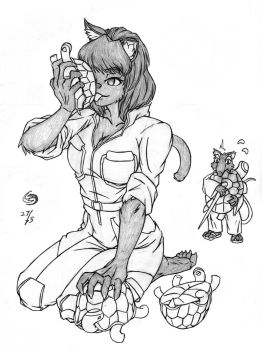 Teenage Mutant Reporter Catgirl by Skwang