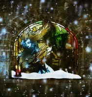 Soft Snow and Stained Glass by alana-m
