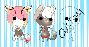 .:Athro Adoptables:. {OPEN} by curled-mustache