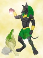 Anubis and Ammet by Terra-fen