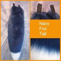 Navy Fox Tail by Lascivus-Lutra