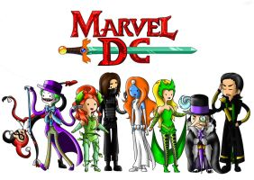 Marvel and DC Villains - Adventure Time Style by AnimeFreak141