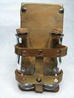 Steampunk Belt Bottle Holder by deadlanceSteamworks