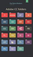 Flat Retro Modern Folders Adobe cc by valvator