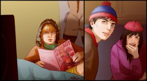 Kenny, Stan, Wendy by JeyDS
