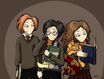 Harry Ron Hermione by Yellowtangerine42
