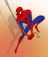 Spider-man swinging. by scootah91