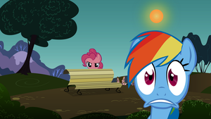Rainbow Dash gets caught breaking the fourth wall. by KestrelElk