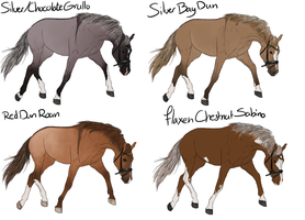 Horse Adoptables Batch 3 1LEFT by ItsDirrtyArt