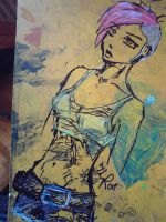 punk girl on my drawing panel by the-Loony