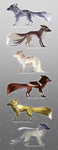[ONE LEFT!] Fox Adoptables Auction by Nimitsuu
