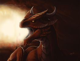 Red dragon by Fan-the-little-demon
