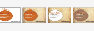 Business cards le rustique by Melophonia