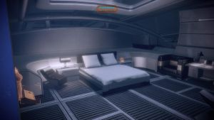 Shepard's quarters - the bed by loraine95