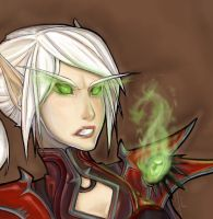 WoW: Blood Elf by areve