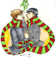 12 Days of Spones: Day 1: Under the Mistletoe by Cloud-Tentacles
