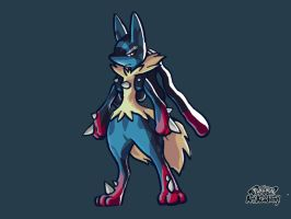 Mega Lucario by WhiteOrchid14