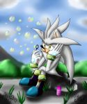 Silver and the soap bubbles by EikoThePsycho