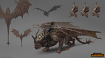 Total War: Warhammer Concept Art Manticore by telthona