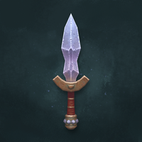 Hand-Painted Dagger by xrg-artwork