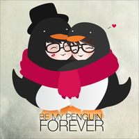 penguins in love by aliize