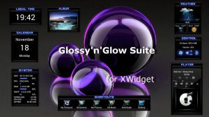 Glossy'n'Glow Suite for xwidget by jimking