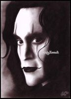 Brandon Lee_The Crow by Zindy