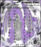 Dragonic Rune Brushes -1- by CrystalJoy-Creations