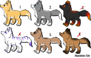 Wolf Adoptable 2 by Adoptables-Sale