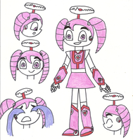 HaVTitH - Ai-Ya the Robot Girl in cartoon style by Magic-Kristina-KW