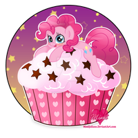 Pinkie Pie On A Cupcake by mimijuliane