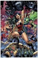 Justice LEague No.3 Combo CVR by sinccolor
