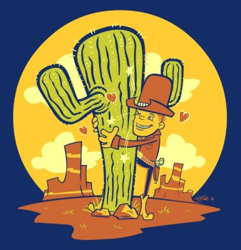 Cactus Hugger by sweetlygrotesque