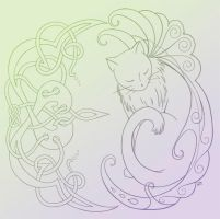 Cat Sidhe Colored by Natakiya