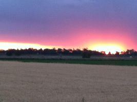 Awesome sunset by Wintaria