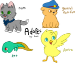 cutie pie adopts! (PRICE LOWERED) by sir-boo