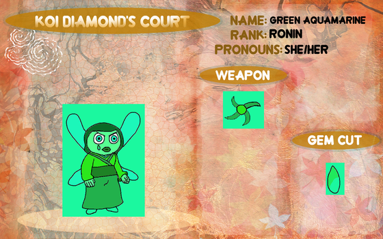 Green Aquamarine's profile in Koi Diamond's Court by ProtanaArchives94