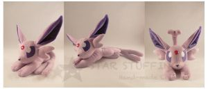 Laying Espeon by StarMassacre