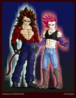 Ssj4 Leek and Super Human Yori by Elyas11 by TheOneKingLeek