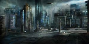 City concept by Darkcloud013