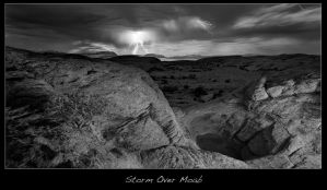 Storm Over Moab by brentbat