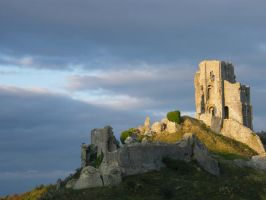 Corfe Castle by DARK-SQUID