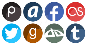 Round social networks icons by Mona-Lunette