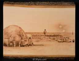 Star Wars Lars homestead - Woodburning by brandojones