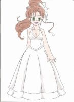 Makoto's wedding gown by animequeen20012003