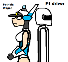 Patricia Wagon and F1 driver by blackevil915