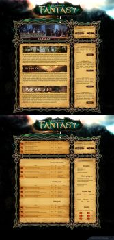 Fantasy gaming website concept by rzl-gfx