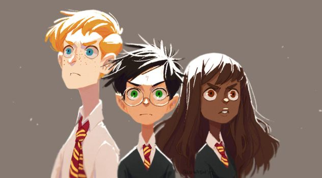 The Golden Trio w/ Colors by BLuwish