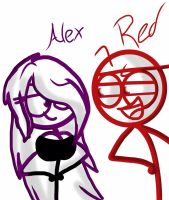 DF Request 6-Red and Alex by Ai-Amaterasu