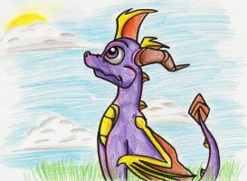 Spyro - Watching the Peace by IcelectricSpyro
